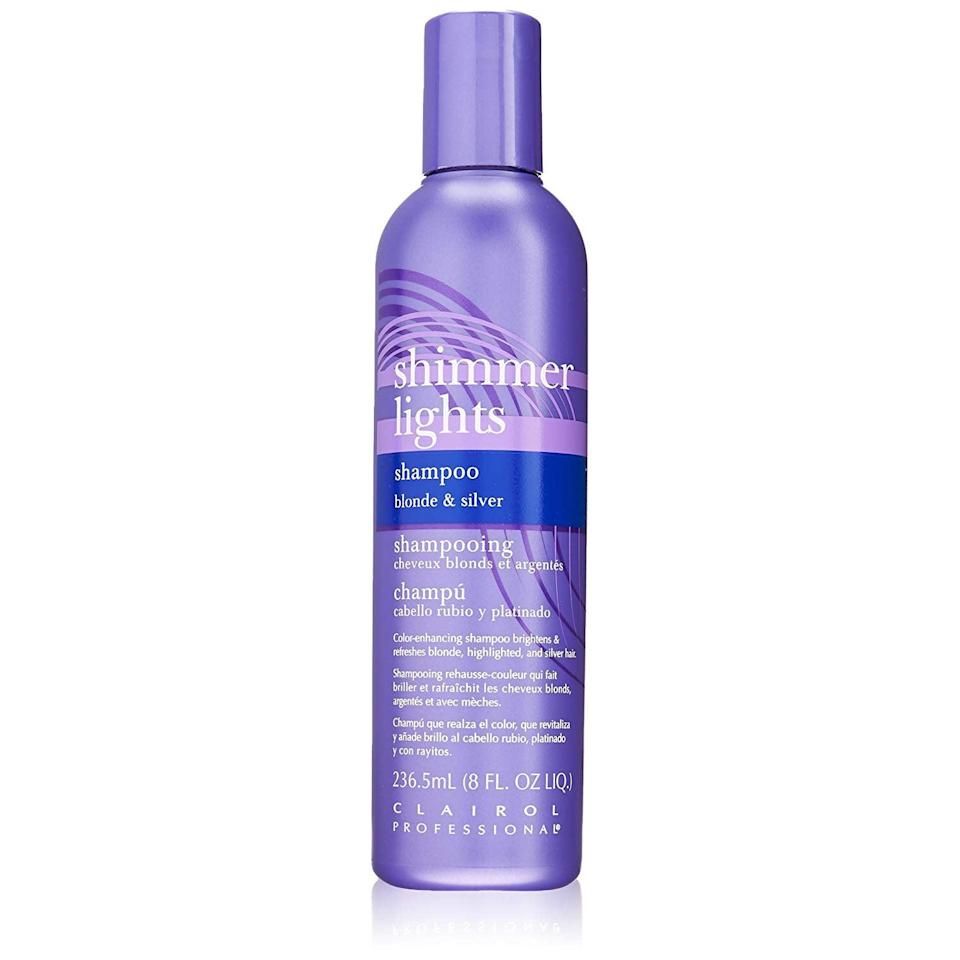 """<a href=""""https://amzn.to/2JWsrN6"""" rel=""""nofollow noopener"""" target=""""_blank"""" data-ylk=""""slk:Blonde & Silver Shampoo"""" class=""""link rapid-noclick-resp""""><h3>Blonde & Silver Shampoo</h3></a><br><strong>Sloan</strong><br><br><strong>How She Discovered It: </strong>""""My old deskmate told me about it and no other toning product compares.""""<br><br><strong>Why It's A Hidden Gem: </strong>""""It is SO cheap and it lasts so long and it works so well. I tried to find it in a beauty supply store and couldn't even find it, way to go Amazon you've got me. It works so well and I tell every blonde to use it.""""<br><br><strong>Clairol</strong> Shimmer Lights Original Shampoo Blonde & Silver 8 oz., $, available at <a href=""""https://amzn.to/33sakXb"""" rel=""""nofollow noopener"""" target=""""_blank"""" data-ylk=""""slk:Amazon"""" class=""""link rapid-noclick-resp"""">Amazon</a>"""