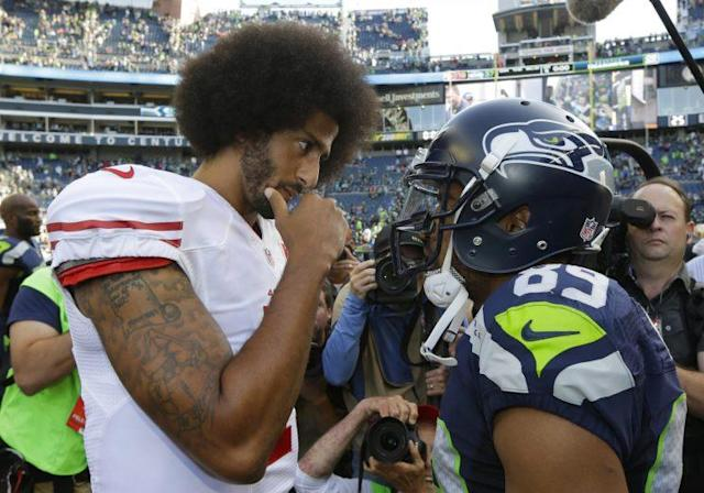 Colin Kaepernick was once a division rival for Doug Baldwin and the Seattle Seahawks. (AP)