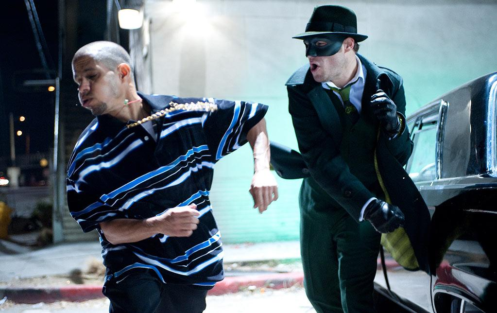 """THE GREEN HORNET<br><a href=""""http://movies.yahoo.com/movie/the-green-hornet-2011/"""">""""The Green Hornet""""</a><br>Grade: C-<br>Sometimes an outfit is only as good as the person wearing it. And while audiences love and accept Seth Rogen as a funny man, the box office failure of """"The Green Hornet"""" indicates not even the best tailor would have saved him from superhero ridicule."""