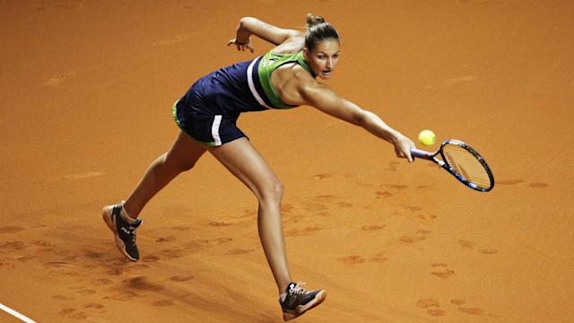Top seed and former champion Karolina Pliskova was a high-profile casualty on day one of the Prague Open.