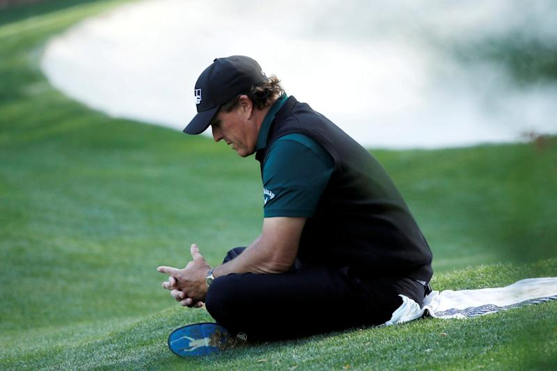 Mickelson was at the centre of controversy on Day Three at Shinnecock Hills: REUTERS