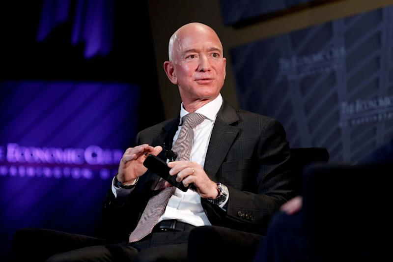Jeff Bezos, president and CEO of Amazon: REUTERS