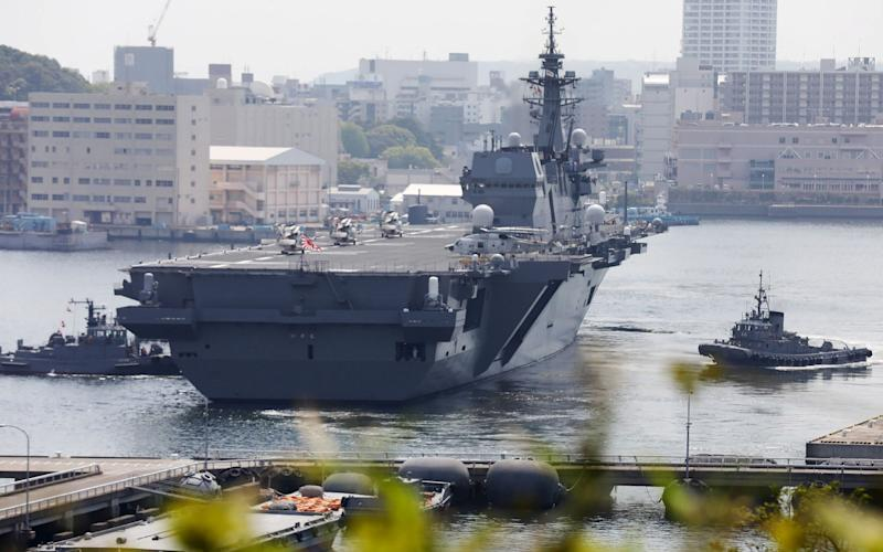 The Izumo is Japan's biggest warship since World War Two - AFP
