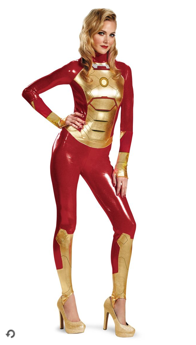 """<p>Isn't Robert Downey Jr. sexy enough on his own? The Marvel superhero gets an """"upgrade"""" with a <a rel=""""nofollow noopener"""" href=""""http://www.spirithalloween.com/product/tv-movies-gaming/movies/avengers/adult-mark-42-iron-man-bodysuit-costume-marvel/pc/1382/c/3810/sc/1449/76116.uts?thumbnailIndex=24"""" target=""""_blank"""" data-ylk=""""slk:spandex bodysuit"""" class=""""link rapid-noclick-resp"""">spandex bodysuit</a> that leaves little to the imagination.<br>(Photo: Spirithalloween.com) </p>"""