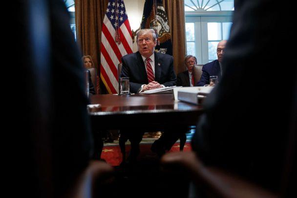 PHOTO: President Donald Trump speaks during a cabinet meeting at the White House, Feb. 12, 2019. (Evan Vucci/AP)