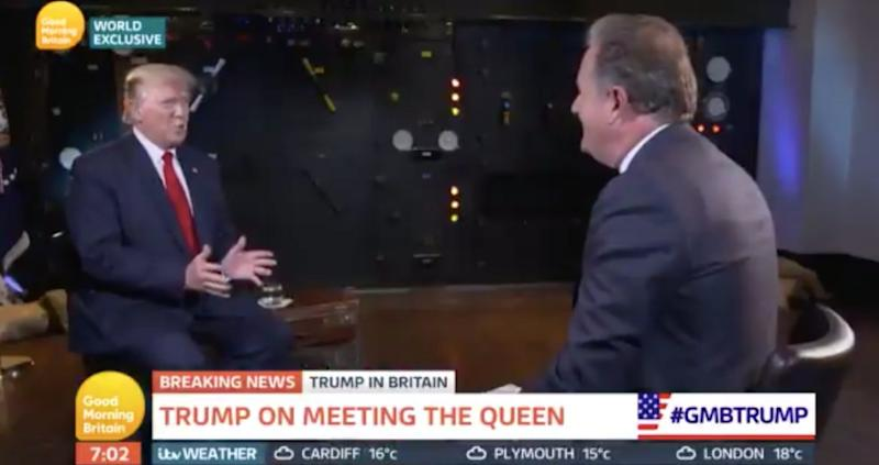 Trump told Piers Morgan he would not include the NHS in trade talks (Good Morning Britain)