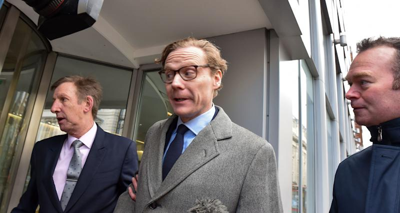 CEO Of Cambridge Analytica Alexander Nix arrives at the office near Holborn