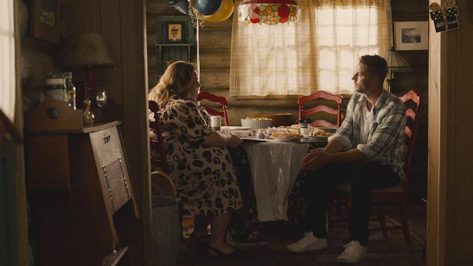 "Chrissy Metz as Kate, Justin Hartley as Kevin on ""This Is Us."""