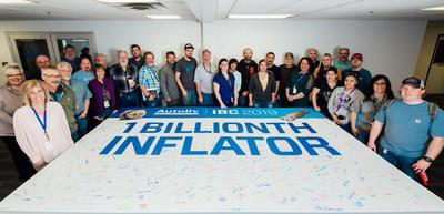 With 30 years of production and saving lives, the team at Autoliv Brigham City celebrates the production of its one billionth inflator. February 14, 2019