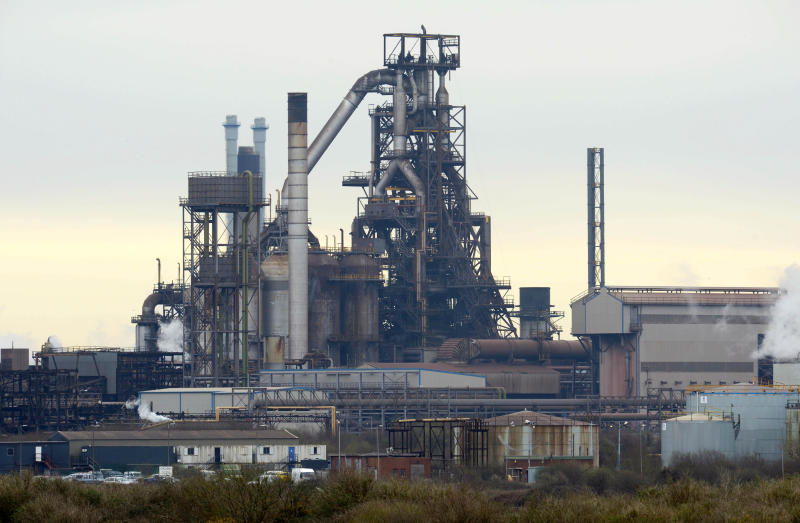 The UK's largest steel works in Port Talbot, South Wales, which Indian owners Tata are looking to sell.