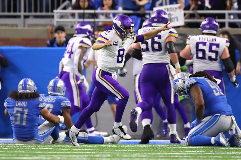 Kirk Cousins was named NFC player of the month for October. (Getty Images)