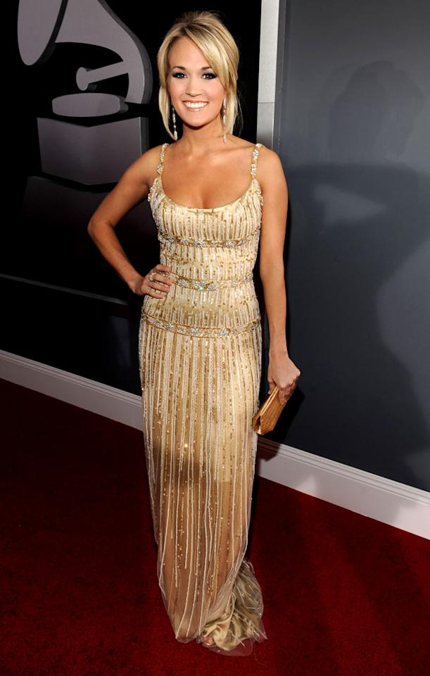 """<a href=""""/carrie-underwood/contributor/2152279"""">Carrie Underwood</a> arrives at the 51st Annual Grammy Awards at the Staples Center on February 8, 2009, in Los Angeles."""