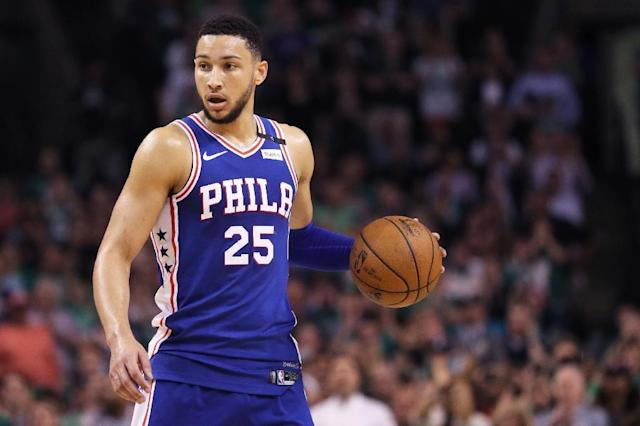 Philadelphia's rookie sensation Ben Simmons is vowing to bounce back from his dismal performance (AFP Photo/Maddie Meyer)