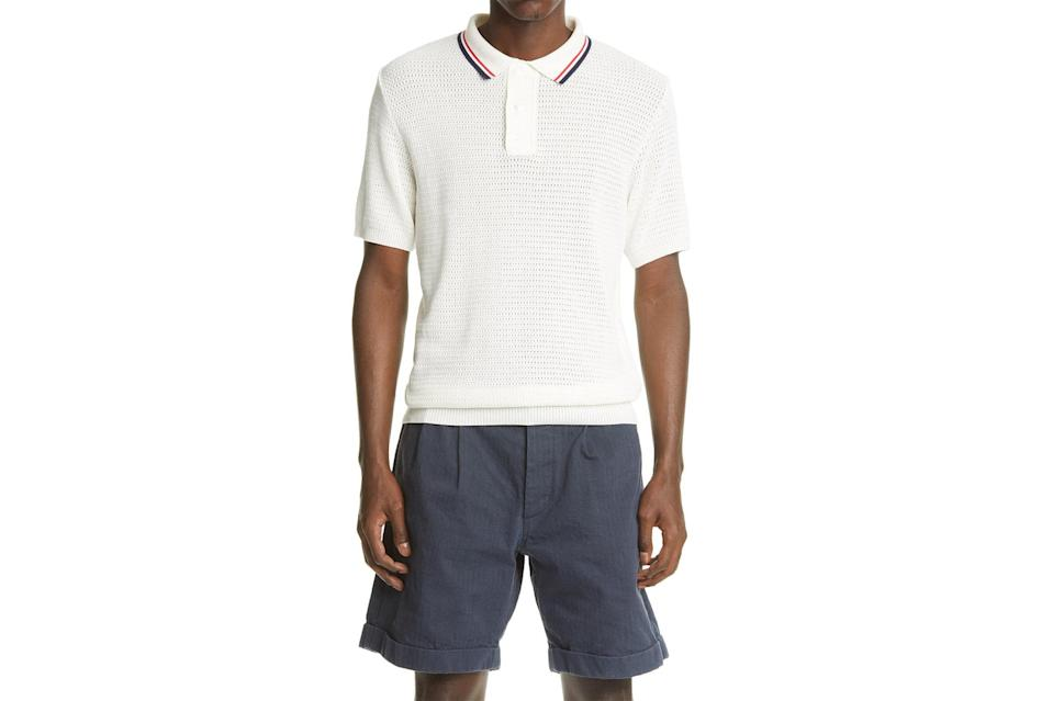 "$168, Nordstrom. <a href=""https://www.nordstrom.com/s/noah-tipped-short-sleeve-mesh-knit-polo/5593424?origin=keywordsearch-personalizedsort&breadcrumb=Home&color=none"" rel=""nofollow noopener"" target=""_blank"" data-ylk=""slk:Get it now!"" class=""link rapid-noclick-resp"">Get it now!</a>"