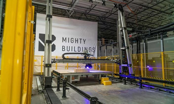 The components for all of Mighty Buildings' 3D Printed homes are made at production facilities like this one.