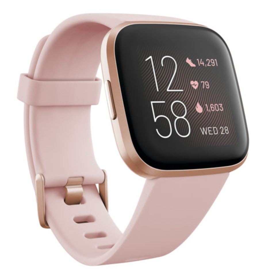 Fitbit Versa 2 Smartwatch in Petal (Photo via Best Buy)