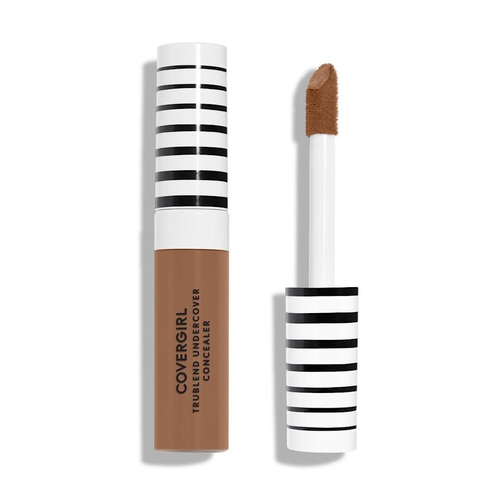 """<p>You can't beat the price or the coverage of the <a href=""""https://www.popsugar.com/buy/CoverGirl-TruBlend-Undercover-Concealer-459752?p_name=CoverGirl%20TruBlend%20Undercover%20Concealer&retailer=amazon.com&pid=459752&price=9&evar1=bella%3Aus&evar9=46398513&evar98=https%3A%2F%2Fwww.popsugar.com%2Fphoto-gallery%2F46398513%2Fimage%2F46398547%2FBest-Concealer-Acne&list1=makeup%2Cbeauty%20products%2Cconcealer%2Cbeauty%20shopping%2Cdrugstore%20beauty&prop13=api&pdata=1"""" class=""""link rapid-noclick-resp"""" rel=""""nofollow noopener"""" target=""""_blank"""" data-ylk=""""slk:CoverGirl TruBlend Undercover Concealer"""">CoverGirl TruBlend Undercover Concealer</a> ($9). The thick doe-foot applicator makes application fast and easy, and the formula covers even the angriest pimples and most tired-looking undereye circles.</p>"""