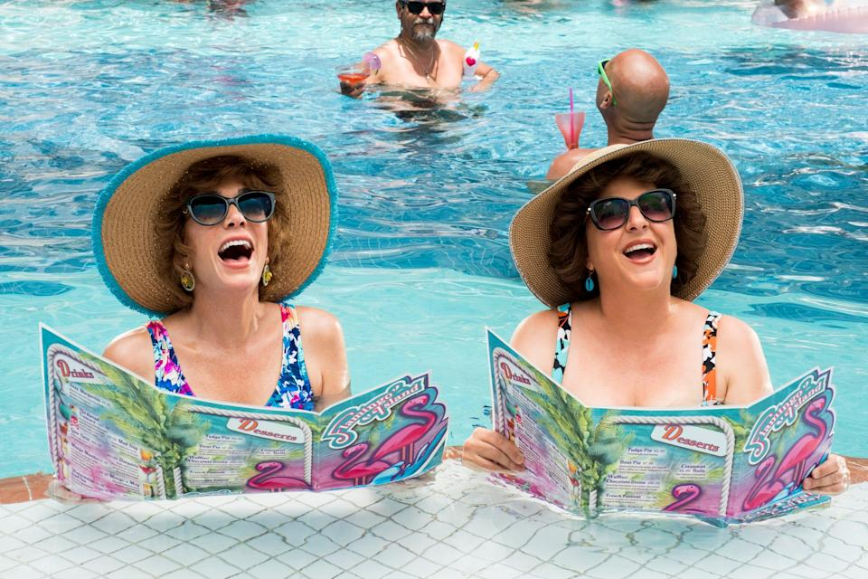"""Kristen Wig (left) plays Star and Annie Mumolo is Barb in """"Barb & Star Go to Vista Del Mar."""""""