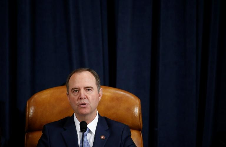 House Intelligence Committee chair Adam Schiff says the evidence of bribery, abuse of power and obstruction by President Donald Trump is 'overwhelming' (AFP Photo/Andrew Harrer)