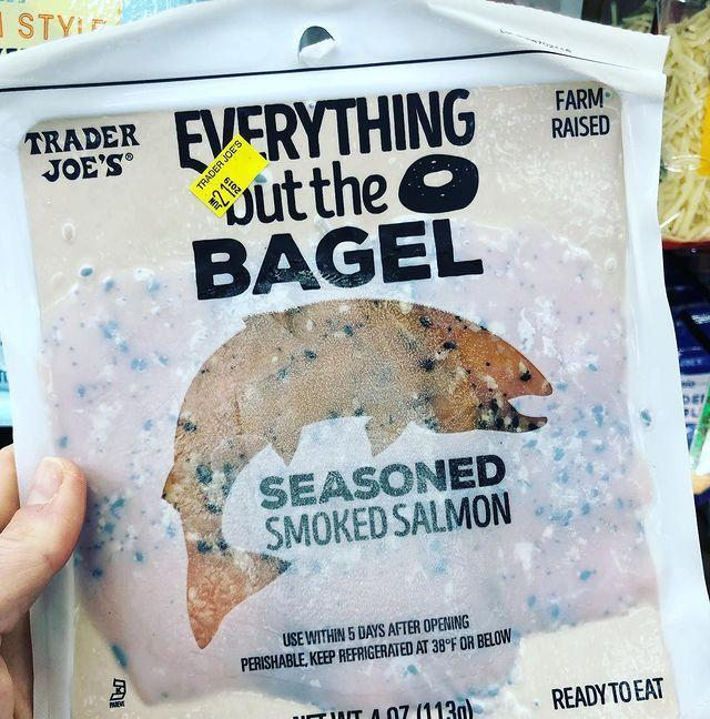 """<p>Trader Joe's finally did with their prolific Everything but the Bagel seasoning what fans have been doing for years: They've added it to prepackaged, presliced smoked salmon.</p><p><a href=""""https://www.instagram.com/p/Bx0Jv8UJXeX/"""" rel=""""nofollow noopener"""" target=""""_blank"""" data-ylk=""""slk:See the original post on Instagram"""" class=""""link rapid-noclick-resp"""">See the original post on Instagram</a></p>"""