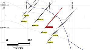 FRANZ ZONE: PLAN MAP OF DRILLING