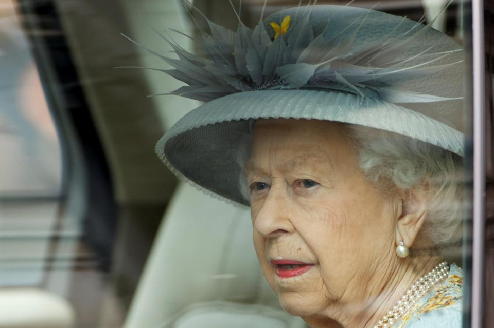 <p>The Queen leaving Buckingham Palace today</p> (REUTERS)