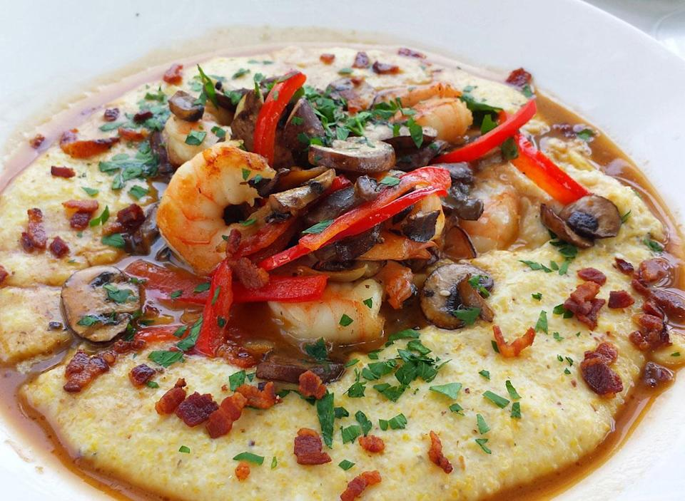 bowl of shrimp and grits