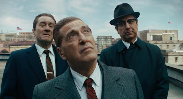 Robert De Niro, Al Pacino and Ray Romano star in Martin Scorsese's <em>The Irishman</em>, which helped make Oscar history for Netflix (Photo: Netflix)