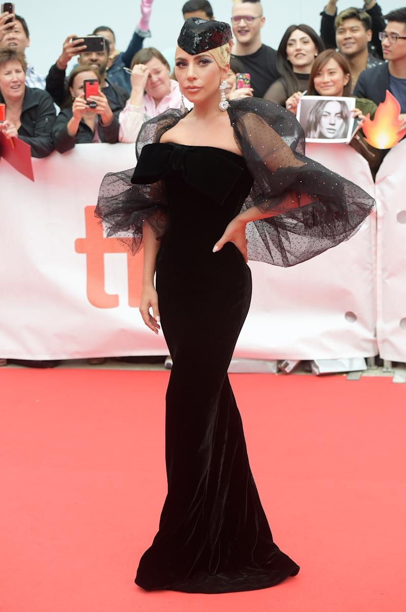 """TORONTO, ON - SEPTEMBER 09: Lady Gaga attends the """"A Star Is Born"""" premiere during 2018 Toronto International Film Festival at Roy Thomson Hall on September 9, 2018 in Toronto, Canada."""