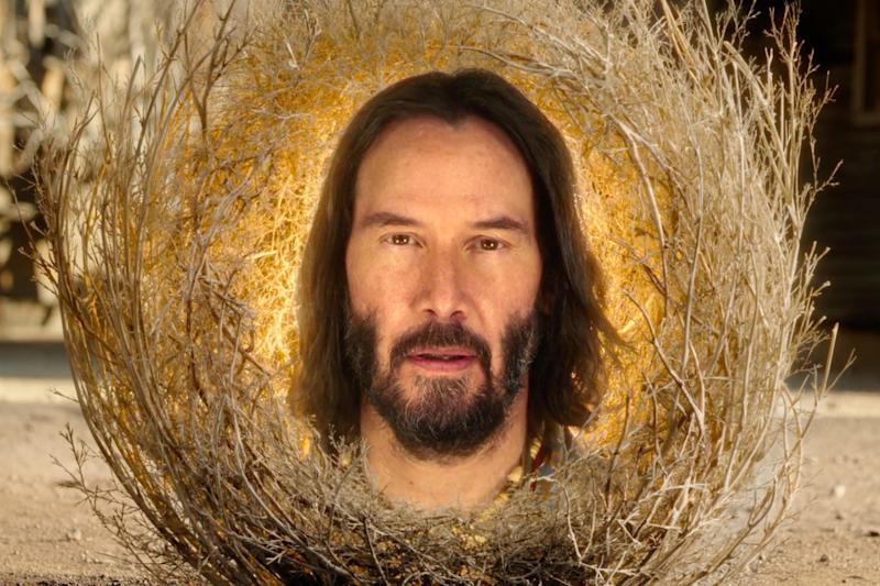 Keanu Reeves is a tumbleweed (no, really) in the SpongeBob Movie trailer
