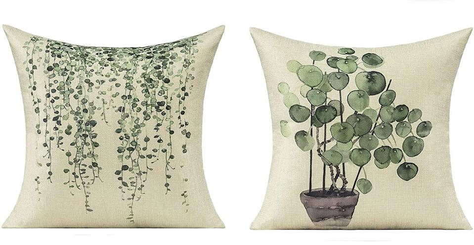 Get some succulent pillow cases to match your actual succulents on your patio this Prime Day.
