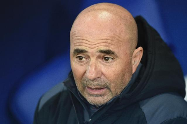 Jorge Sampaoli guided Sevilla to fourth place in La Liga (AFP Photo/Oli SCARFF )