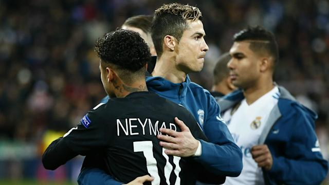 The former Barcelona star denied two-goal hero Cristiano Ronaldo was superior to the Brazilian attacker in Real Madrid's win over Paris Saint-Germain