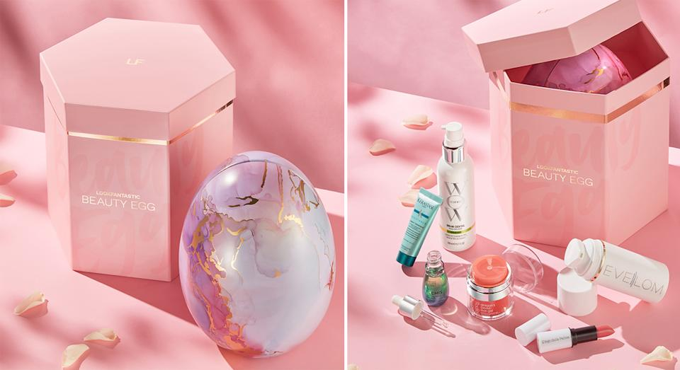 Lookfantastic has launched its 2021 Beauty Egg ahead of Easter Sunday, and it's filled with over £220 worth of beauty products. (Lookfantastic)