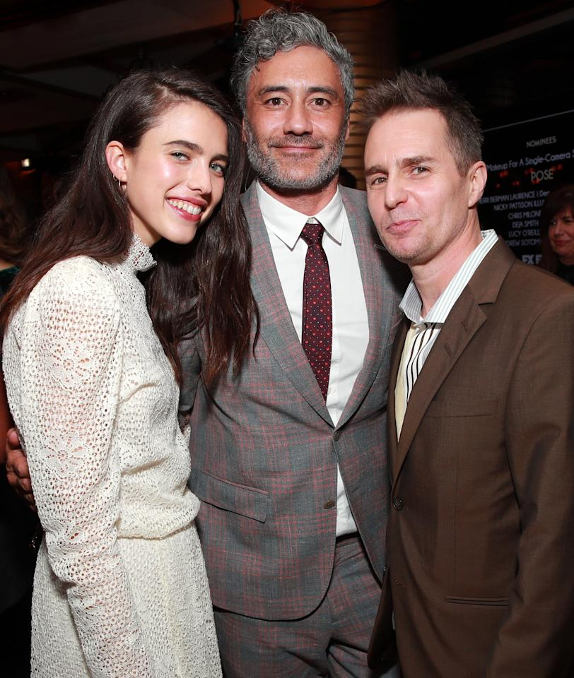 <p>Pictured: Margaret Qualley, Taika Waititi, and Sam Rockwell</p>