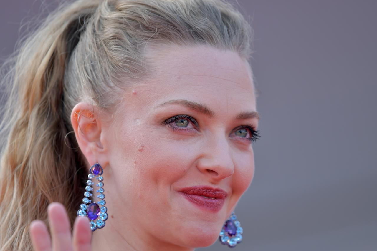 US actress Amanda Seyfried at the Venice Film Festival, August 2017
