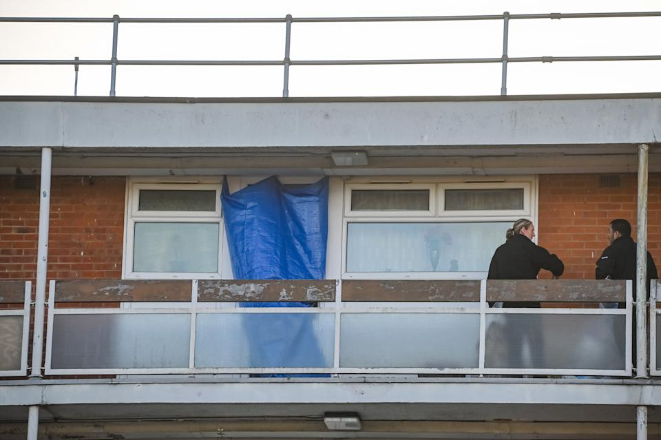 Police found Julie Williams dead in her flat in Riley Square, Coventry. (SWNS)