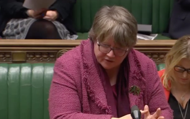 Ms Coffey speaking about food bank use in the Commons (Parliamentlive.tv)
