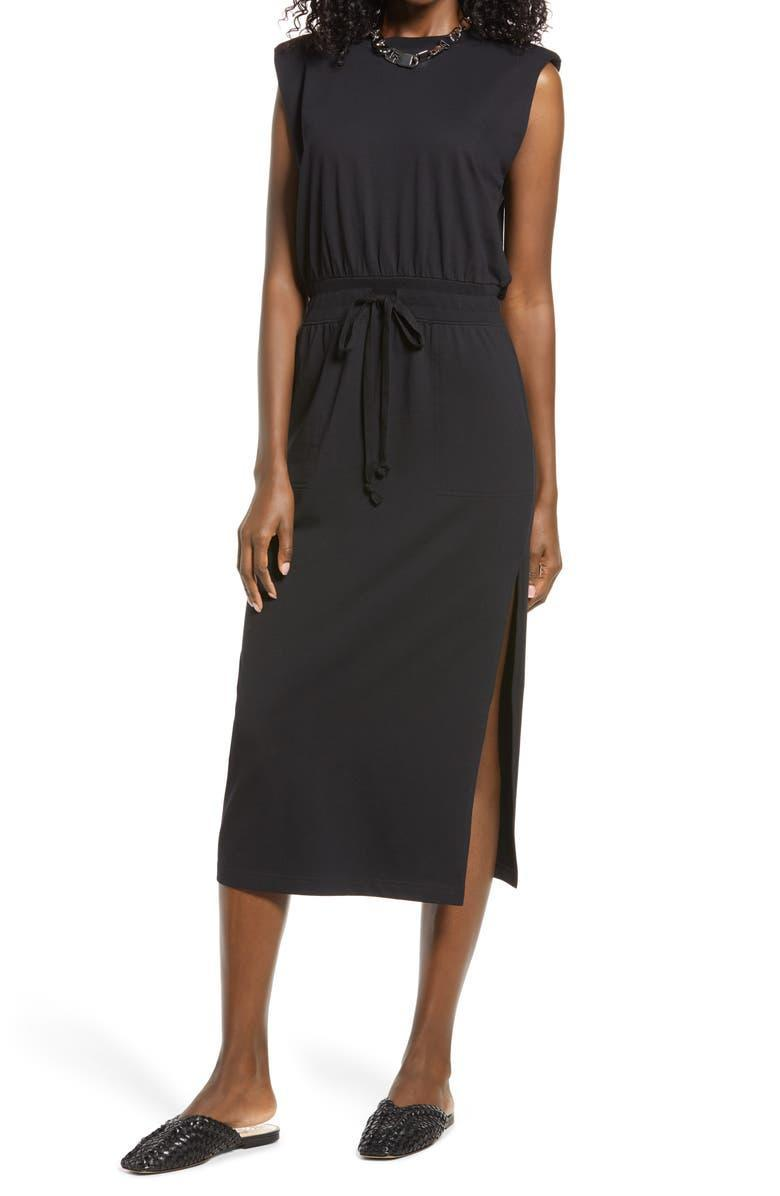 """<h2><a href=""""https://www.nordstrom.com/brands/open-edit--21897"""" rel=""""nofollow noopener"""" target=""""_blank"""" data-ylk=""""slk:Up to 54% off Open Edit"""" class=""""link rapid-noclick-resp"""">Up to 54% off Open Edit</a></h2><br><em>Next Best Deal: Since this Open Edit padded shoulder midi dress is currently sold out, try this still-in-stock <a href=""""https://www.nordstrom.com/s/wayf-padded-shoulder-midi-dress/5750311"""" rel=""""nofollow noopener"""" target=""""_blank"""" data-ylk=""""slk:WAYF padded shoulder midi dress"""" class=""""link rapid-noclick-resp"""">WAYF padded shoulder midi dress</a> instead!</em><br><br><strong>Open Edit</strong> Shoulder Pad Sheath Dress, $, available at <a href=""""https://go.skimresources.com/?id=30283X879131&url=https%3A%2F%2Fwww.nordstrom.com%2Fs%2Fopen-edit-shoulder-pad-sheath-dress%2F5863654"""" rel=""""nofollow noopener"""" target=""""_blank"""" data-ylk=""""slk:Nordstrom"""" class=""""link rapid-noclick-resp"""">Nordstrom</a>"""