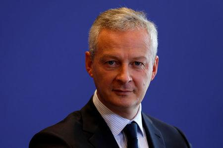 French Finance Minister Bruno Le Maire attends a news conference on a report on French economy at the Bercy Finance ministry in Paris