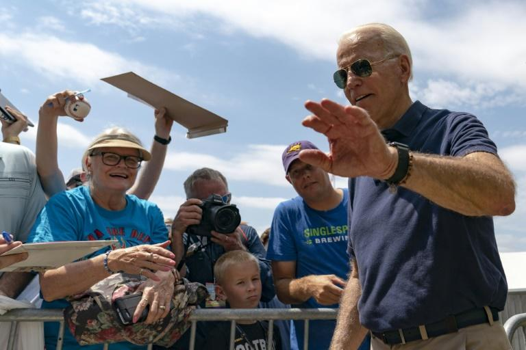 Democratic White House hopeful Joe Biden, the former US vice president, aims to go gaffe-free in his party's third presidential primary debate (AFP Photo/Alex Edelman)