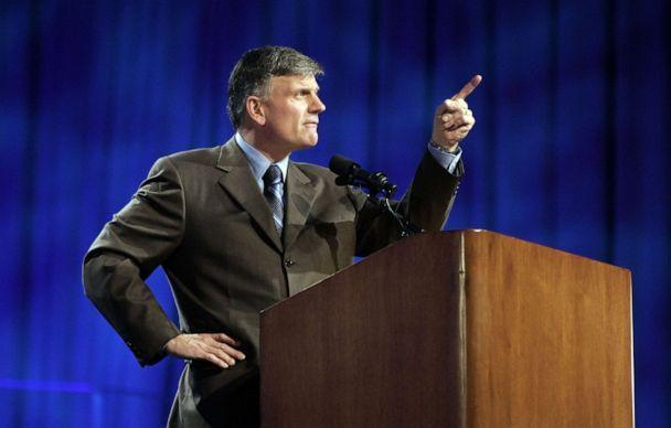 PHOTO: Franklin Graham speaks during the Celebration of Hope at the New Orleans Arena on March 11, 2006, in New Orleans. (Chris Graythen/Getty Images, FILE)
