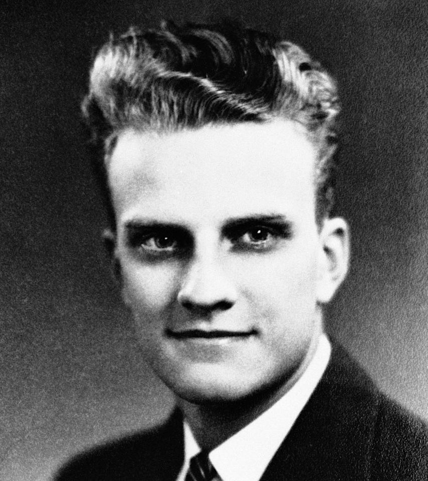"<p>William ""Billy"" Graham at age 17, at his graduation from Charlotte High School in June 1935. He had already embraced religion at a local revival meeting and decided that he would focus on the pulpit rather than the baseball diamond. (Photo: AP) </p>"