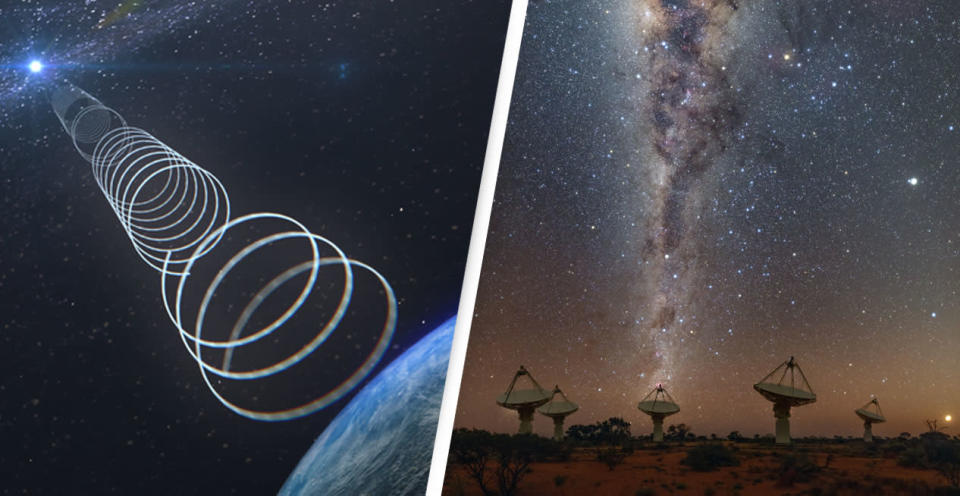Astronomers discover unusual signals coming from the Milky Way's centre