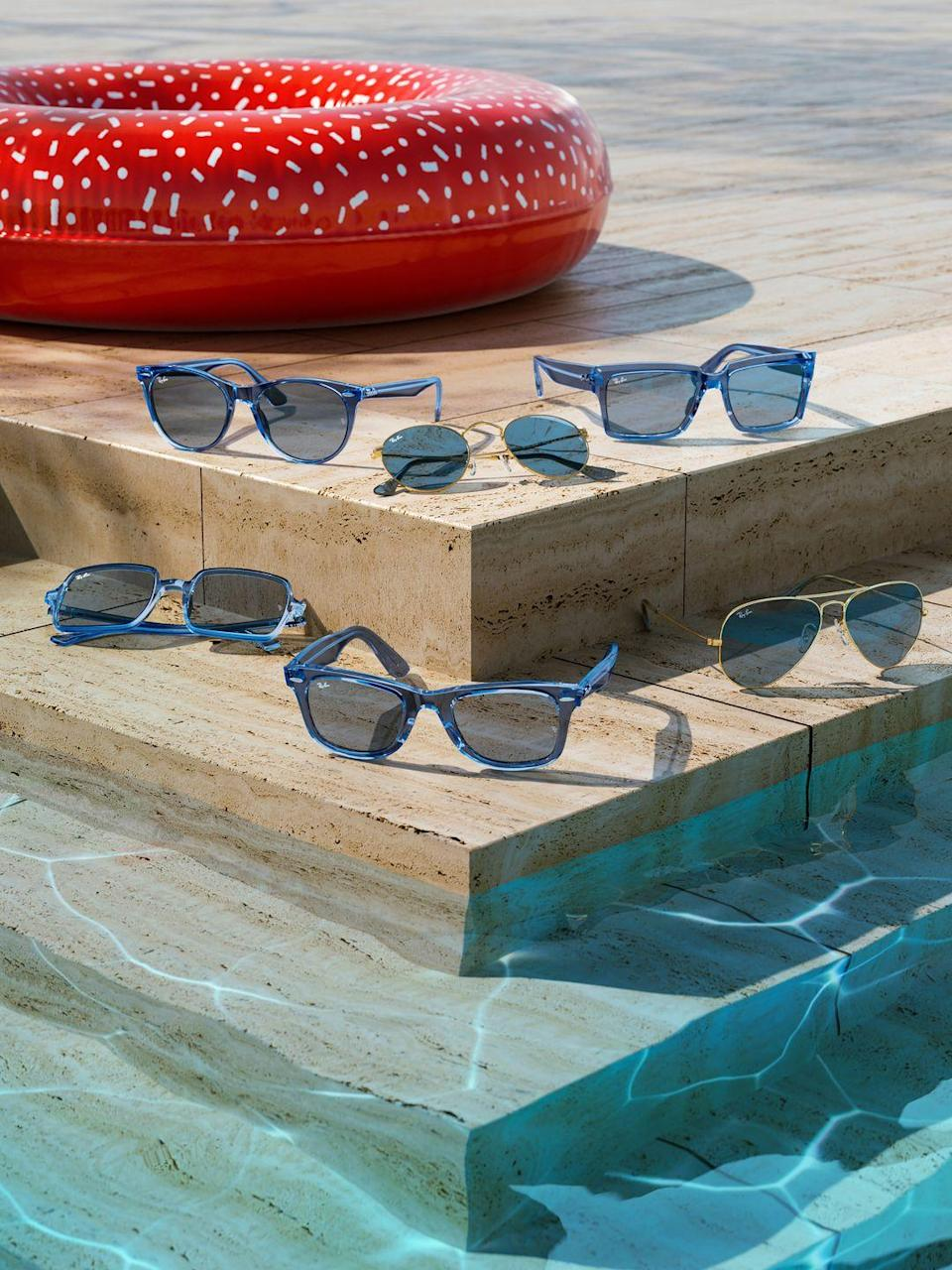 """<p><strong>Who: </strong>Ray-Ban</p><p><strong>What: </strong>True Blue Collection</p><p><strong>Where:</strong> Available on Ray-Ban.com from $161</p><p><strong>Why: </strong>Ray-Ban is releasing six of their most iconic shapes including the Wayfarer and Aviator in the perfect ocean blue. As per every Ray-Ban sunglass style, each pair is scratch-resistant to ensure the cool blue color keeps its shine all summer long. Even if you can't make it to Mykonos, you can have a piece of the irresistible azure water in your daily wardrobe. Styles are available now on Ray-Ban.com and wherever Ray-Bans are sold.</p><p><a class=""""link rapid-noclick-resp"""" href=""""https://go.redirectingat.com?id=74968X1596630&url=https%3A%2F%2Fwww.ray-ban.com%2Fusa&sref=https%3A%2F%2Fwww.elle.com%2Ffashion%2Fshopping%2Fg36905733%2Fthe-launch-julys-hottest-fashion-drops%2F"""" rel=""""nofollow noopener"""" target=""""_blank"""" data-ylk=""""slk:SHOP NOW"""">SHOP NOW</a></p>"""