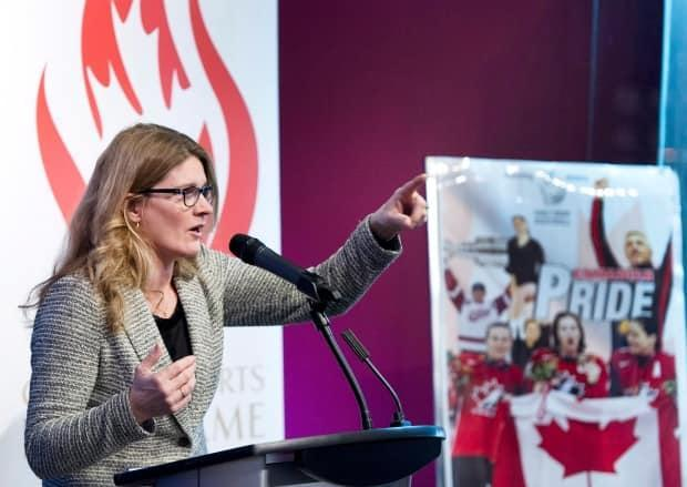 Former Canadian Olympic skiing gold medallist Kerrin Lee-Gartner was voted by fans as having the top moment in Canadian alpine ski history with her 1992 gold medal win in the women's downhill event. (Larry MacDougal/The Canadian Press - image credit)