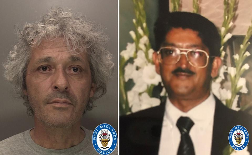 Matthew Chibnall (left) was convicted of murdering Anil Vegad. (WMP)