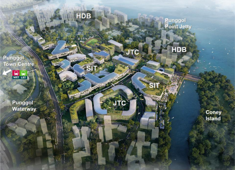 The future Punggol Town. (Photo: SIT)