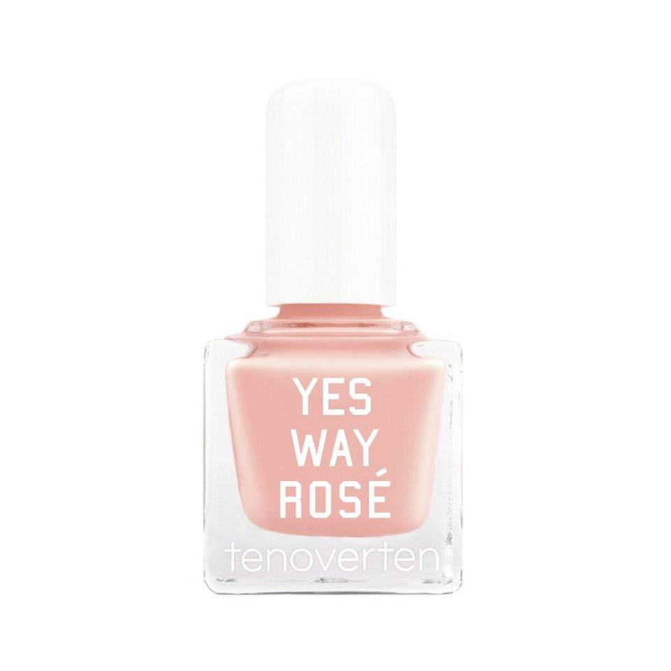 "<h3>Tenoverten Yes Way Rosé</h3> <br>The current quarantine can't stop the incoming warm weather. Pick a sheer peach polish that mirrors the drink in your wine glass (rosé, obviously).<br><br><strong>Tenoverten</strong> tenoverten Nail Polish, $, available at <a href=""https://go.skimresources.com/?id=30283X879131&url=https%3A%2F%2Fcredobeauty.com%2Fproducts%2Fnail-polish-1%3Fvariant%3D2078138073100%26utm_medium%3Dcpc%26utm_source%3Dgoogle%26utm_campaign%3DGoogle%2520Shopping%26gclid%3DEAIaIQobChMIuPOuyP7l6AIViYbACh1zdwpyEAQYBCABEgJWwvD_BwE"" rel=""nofollow noopener"" target=""_blank"" data-ylk=""slk:Credo"" class=""link rapid-noclick-resp"">Credo</a><br>"