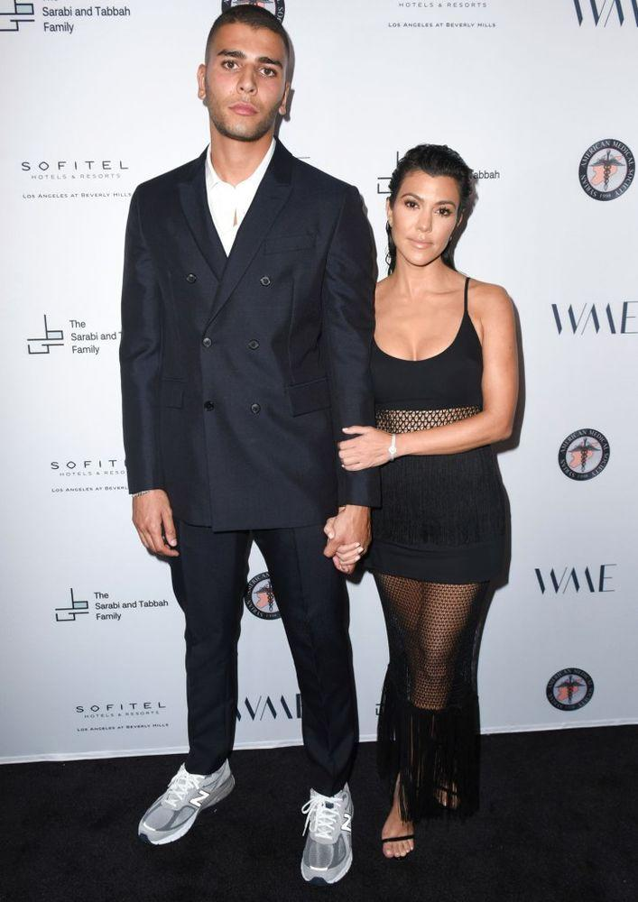 Younes Bendjima and Kourtney Kardashian, May 2018.